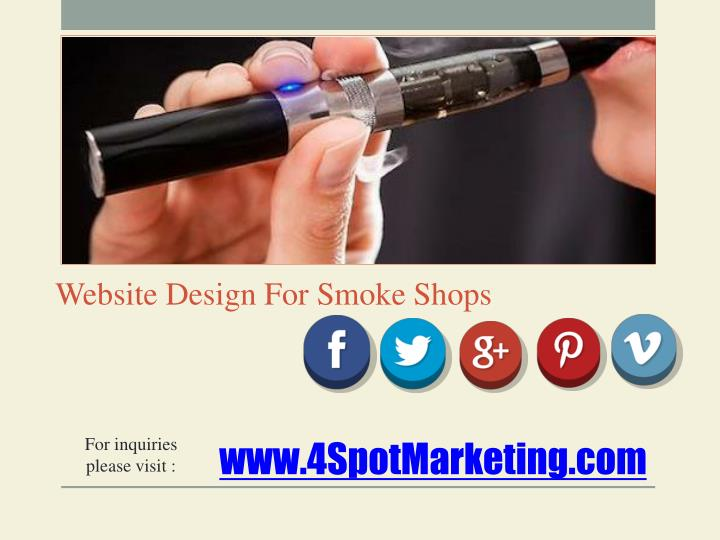 Website Design For Smoke Shops