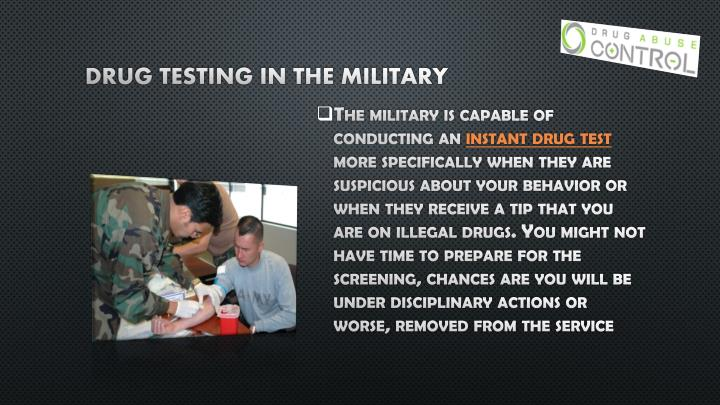 Drug testing in the military
