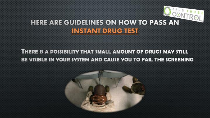 Here are guidelines on how to pass an