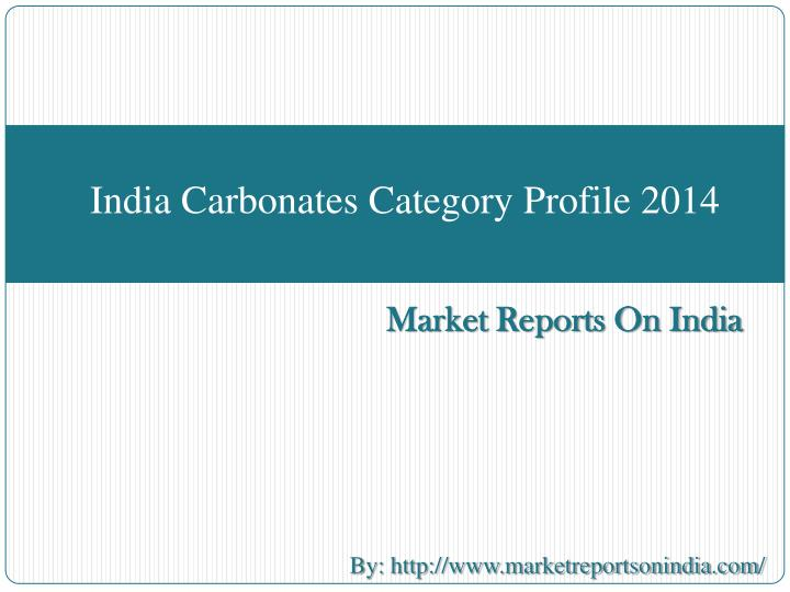India carbonates category profile 2014