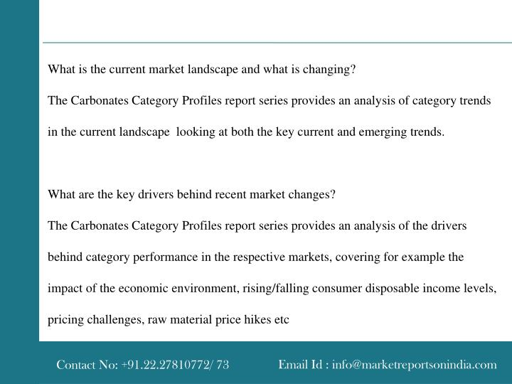 What is the current market landscape and what is changing?