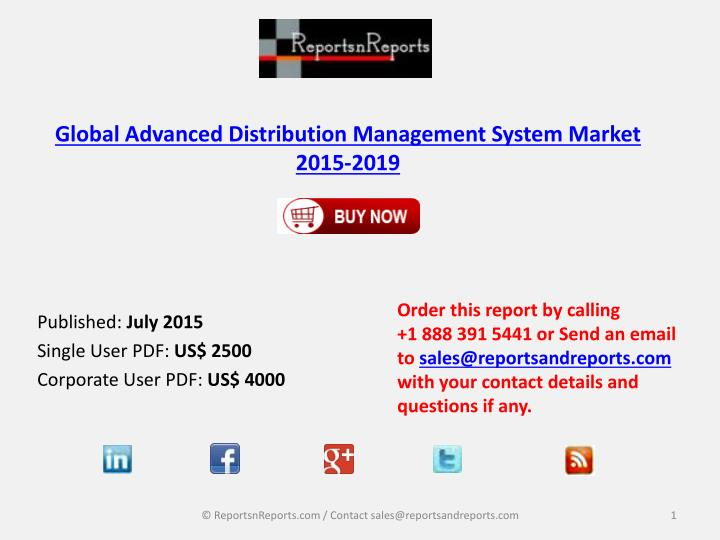global distributed system management software market Global advanced distribution management system (adms) market size, status and forecast 2025 table of contents 2018-2025 admission management software report on global and united states market, status and forecast, by players, types and applications.