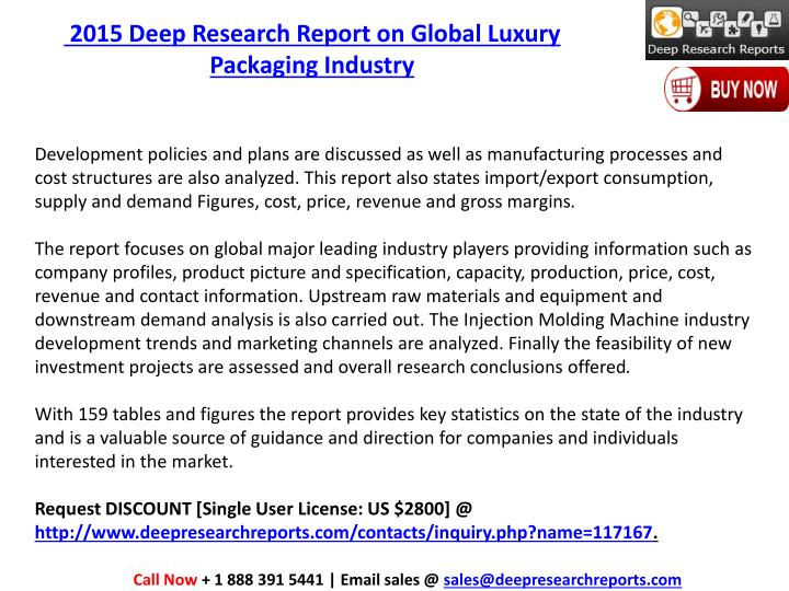 2015 Deep Research Report on Global Luxury Packaging Industry