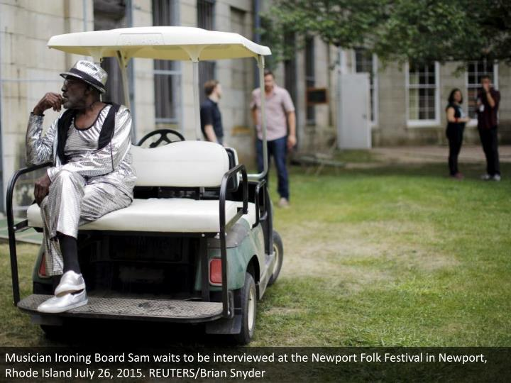Musician Ironing Board Sam waits to be interviewed at the Newport Folk Festival in Newport, Rhode Island July 26, 2015. REUTERS/Brian Snyder