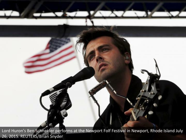 Lord Huron's Ben Schneider performs at the Newport Folf Festival in Newport, Rhode Island July 26, 2015. REUTERS/Brian Snyder