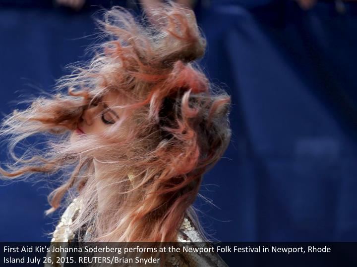 First Aid Kit's Johanna Soderberg performs at the Newport Folk Festival in Newport, Rhode Island July 26, 2015. REUTERS/Brian Snyder
