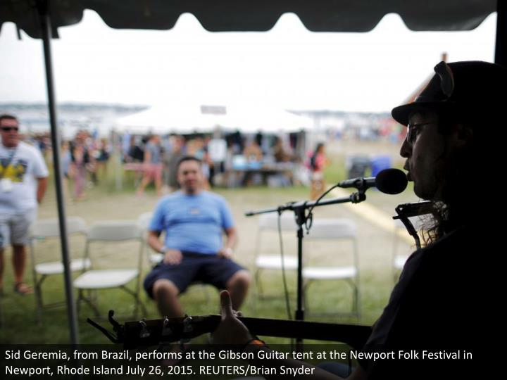 Sid Geremia, from Brazil, performs at the Gibson Guitar tent at the Newport Folk Festival in Newport, Rhode Island July 26, 2015. REUTERS/Brian Snyder