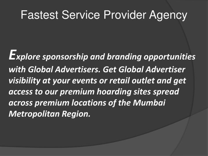Fastest Service Provider