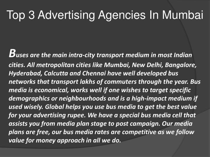 Top 3 Advertising Agencies