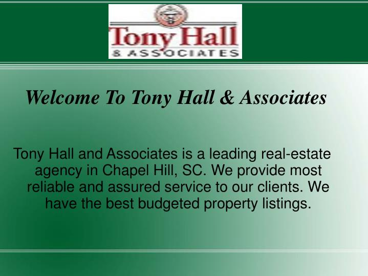 Welcome to tony hall associates