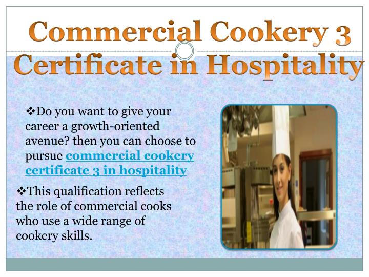 Commercial Cookery 3