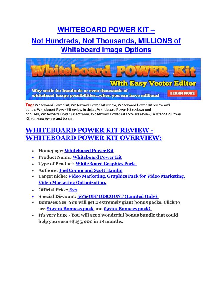 Whiteboard power kit review giant bonus discount