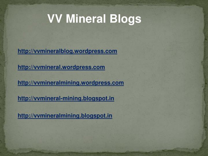 VV Mineral Blogs