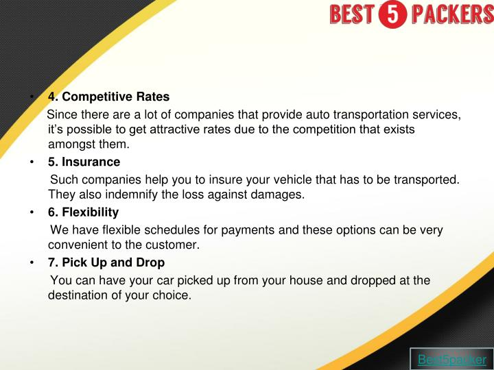 4. Competitive Rates