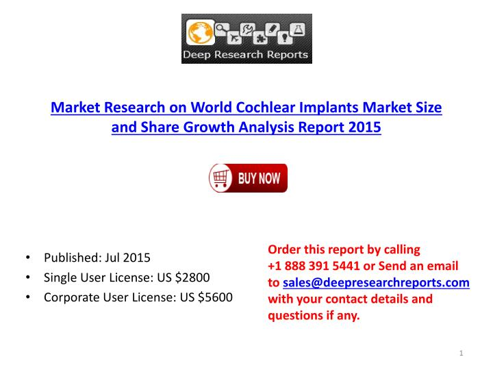 Market Research on World Cochlear Implants Market Size