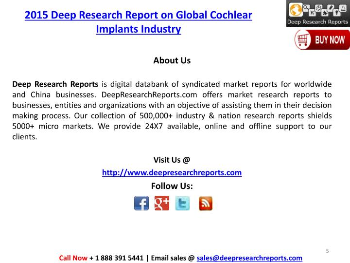 2015 Deep Research Report on Global Cochlear