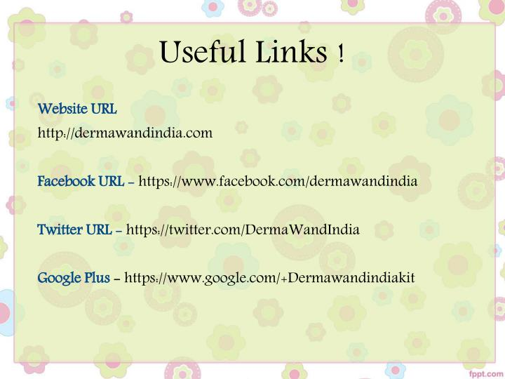 Useful Links !