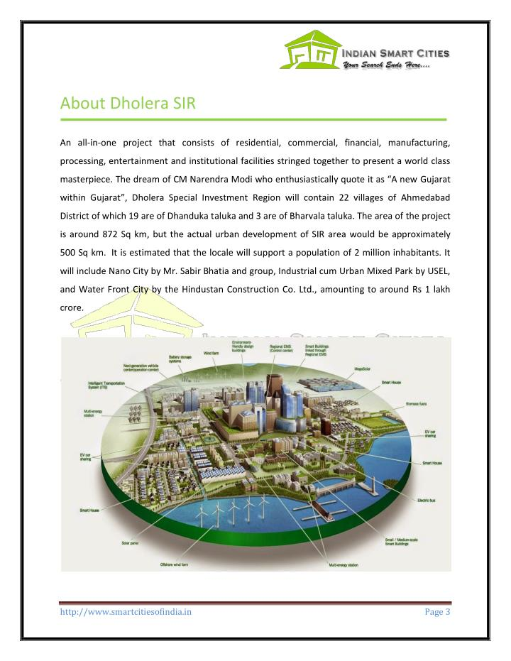 About Dholera SIR