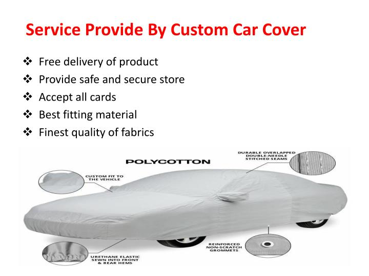Service Provide By Custom Car Cover
