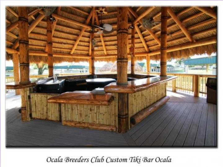 Custom tiki patio tiki huts in florida