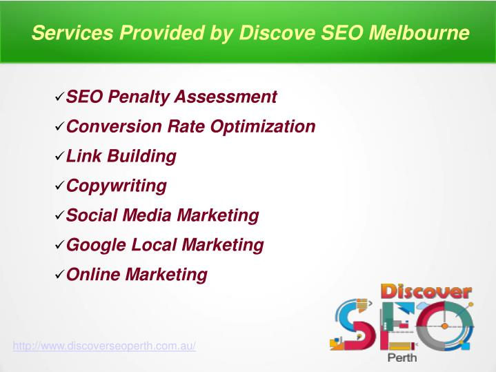 Services Provided by Discove SEO Melbourne