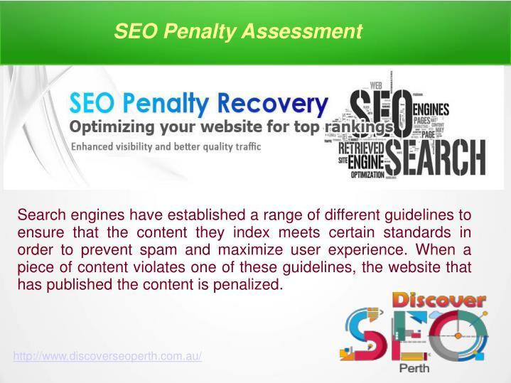 SEO Penalty Assessment