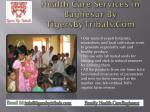 health care services in baghesur by tigersbytribals com