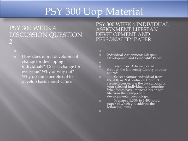 PSY 300