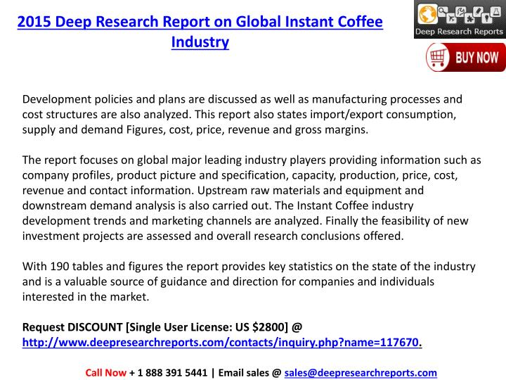 2015 Deep Research Report on Global Instant Coffee
