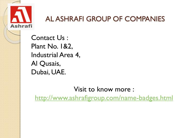 AL ASHRAFI GROUP OF COMPANIES