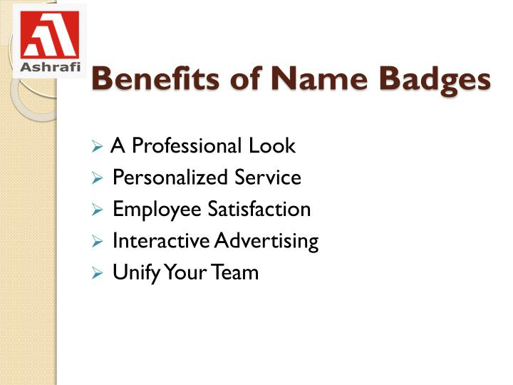 Benefits of Name Badges