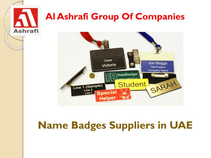 Name badges suppliers in uae