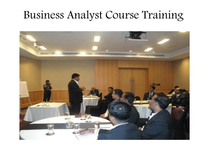 Business analyst course training