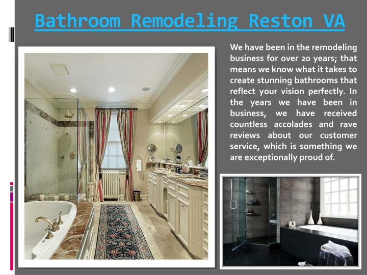 Bathroom remodeling reston va