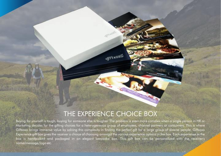 THE EXPERIENCE CHOICE BOX