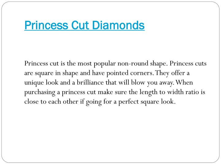 Princess Cut Diamonds