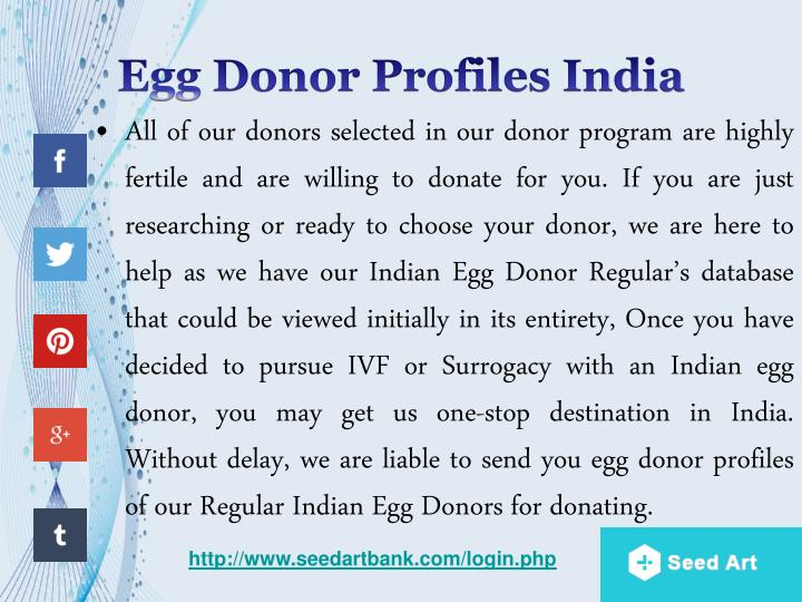 Egg Donor Profiles India