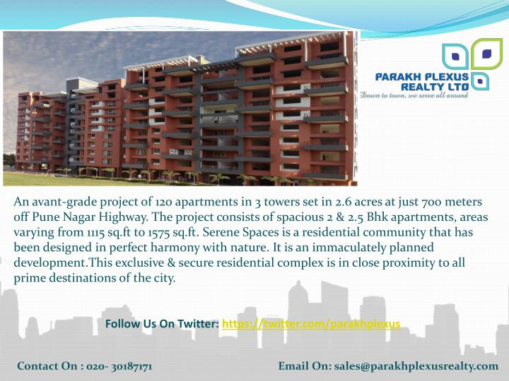An avant-grade project of 120 apartments in 3 towers set in 2.6 acres at just 700 meters off Pune Na...