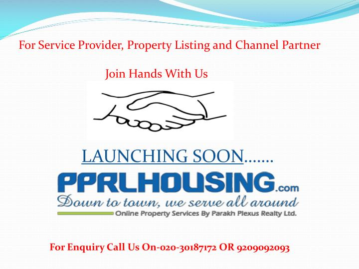 For Service Provider, Property Listing and Channel Partner