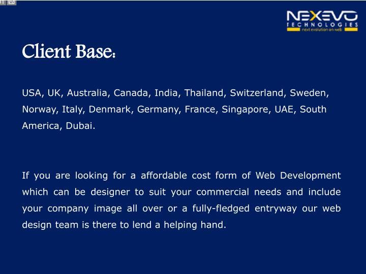 Client Base: