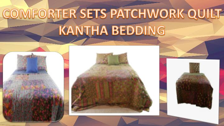 COMFORTER SETS PATCHWORK QUILT KANTHA BEDDING