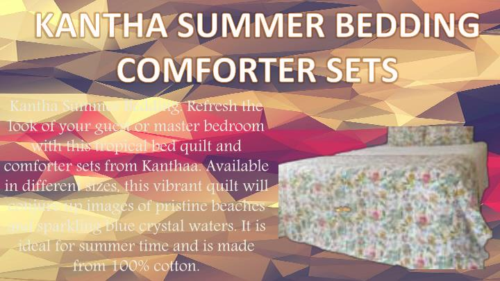 KANTHA SUMMER BEDDING COMFORTER SETS