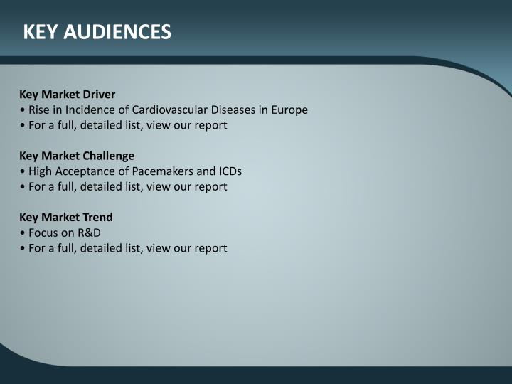 KEY AUDIENCES