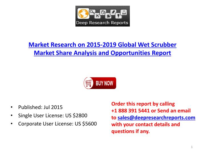 Market Research on 2015-2019 Global Wet Scrubber