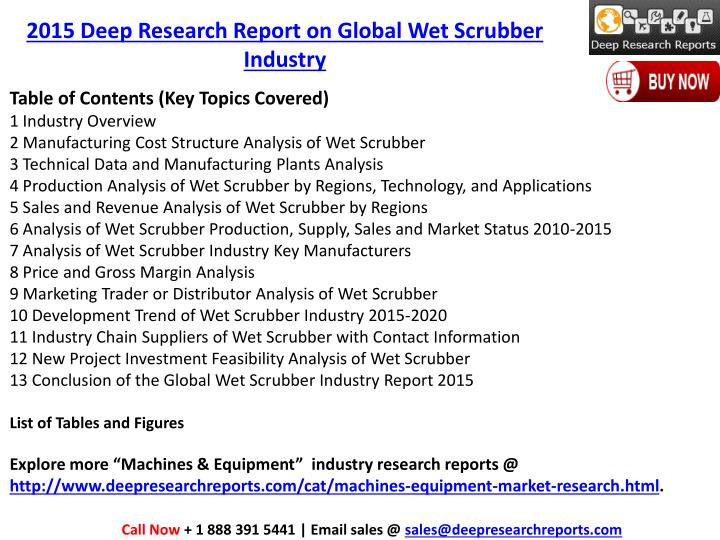 2015 Deep Research Report on Global Wet Scrubber