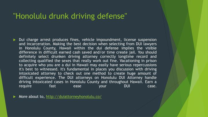 Honolulu drunk driving defense1