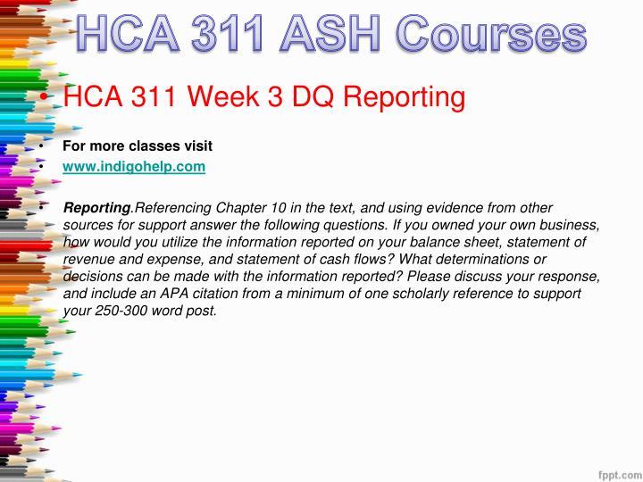 HCA 311 ASH