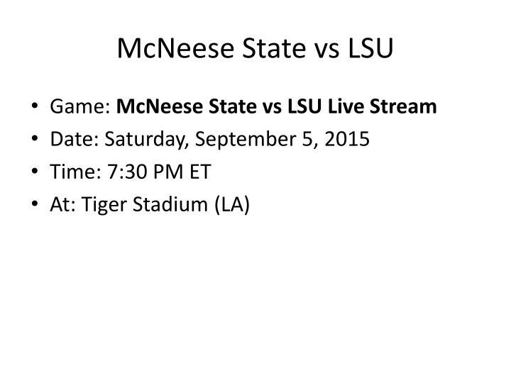 McNeese State vs LSU