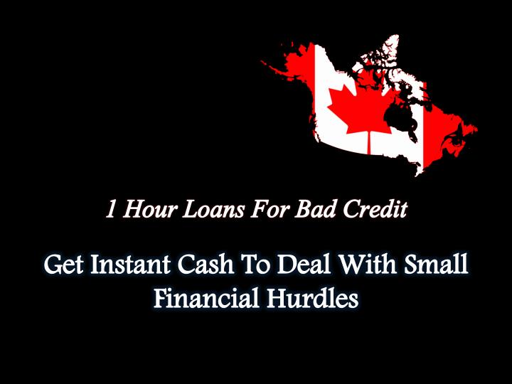 1 Hour Loans For Bad Credit