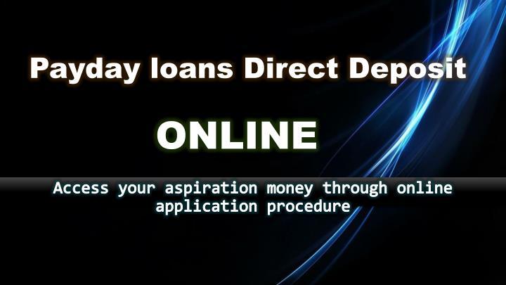 Payday loans Direct Deposit